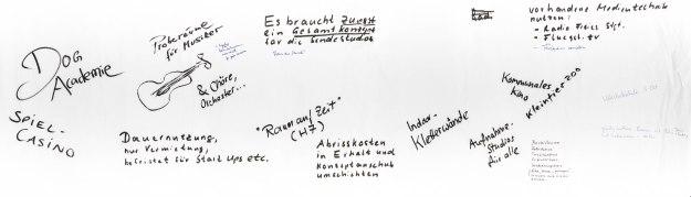 """Ideentisch """"Zwischennutzung Sendestudios"""", 2. Planungspicknick (18.08.2013)"""